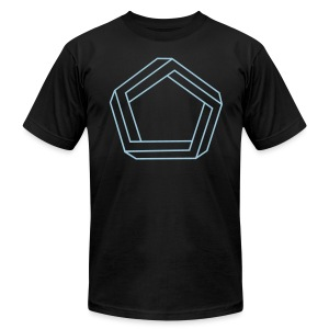 Impossible Pentagon - Men's T-Shirt by American Apparel