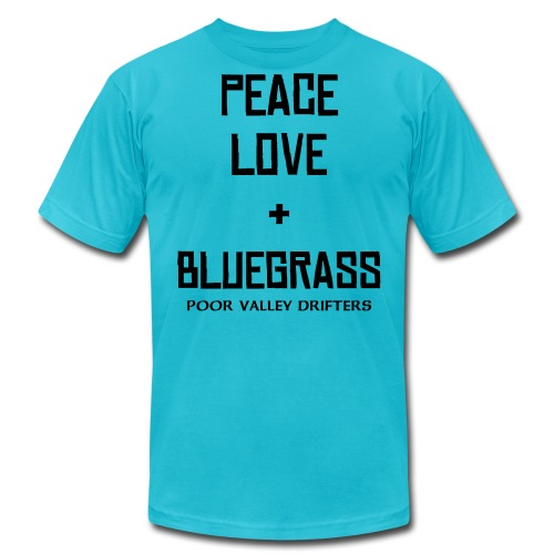 Peace, Love, & Bluegrass Solid Series - Men's Fine Jersey T-Shirt