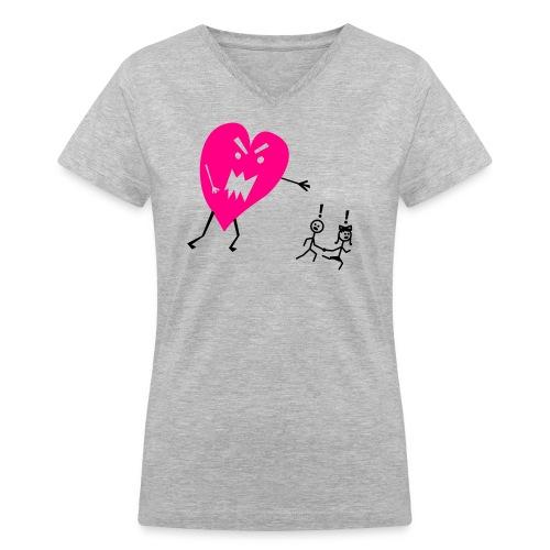 Heartbreak - Women's V-Neck T-Shirt