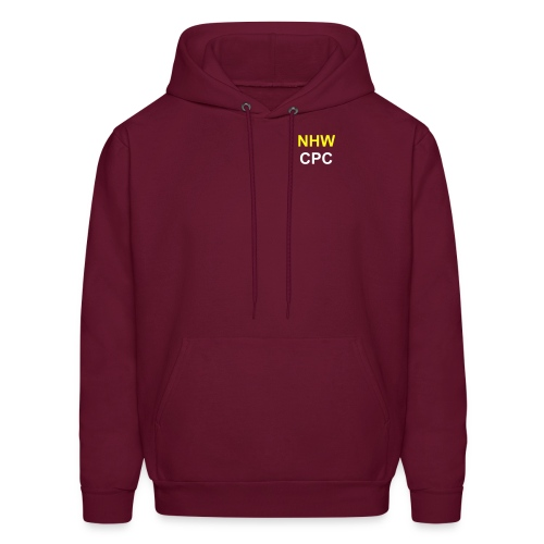 Men's NHW CPC Hooded Sweatshirt (Burgundy) - Men's Hoodie