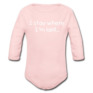 Baby's 'Stay' One size - Long Sleeve Baby Bodysuit