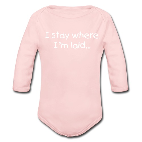 Baby's 'Stay' One size - Organic Long Sleeve Baby Bodysuit