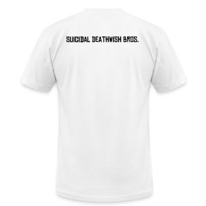 Male T-Shirt Suicidal DeathWish Bros. - Men's T-Shirt by American Apparel