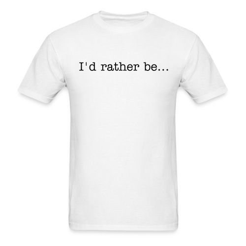 Rather be writing - Men's T-Shirt
