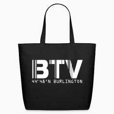 Burlington Airport Code Vermont BTV Tote and Beach Bag
