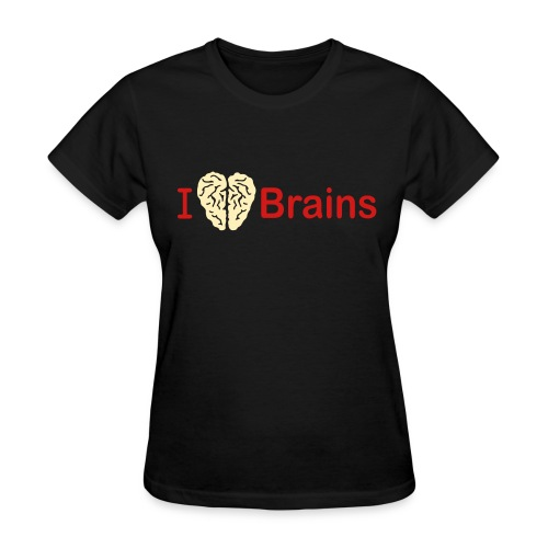 I love Brains - Women's T-Shirt