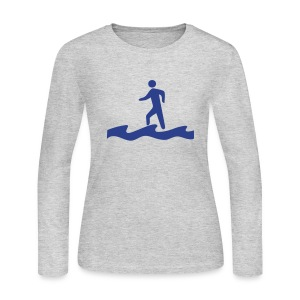 Walk on Water - Women's Long Sleeve Jersey T-Shirt