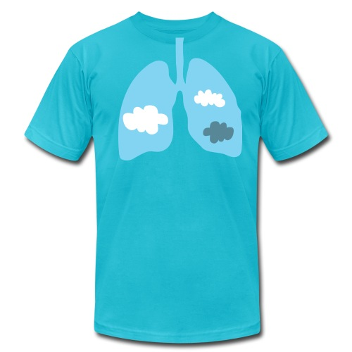 Body Expressive: Cloudy - Men's Fine Jersey T-Shirt