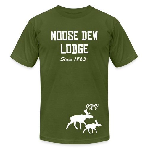Moose Dew Lodge Designer Tee - Men's Fine Jersey T-Shirt