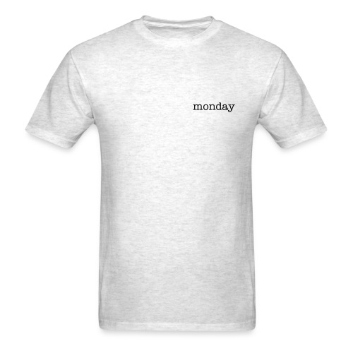 Monday Plain - Men's T-Shirt