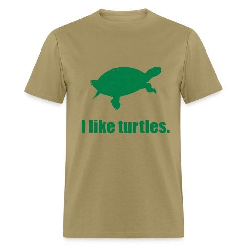 I Like Turtles - Men's T-Shirt