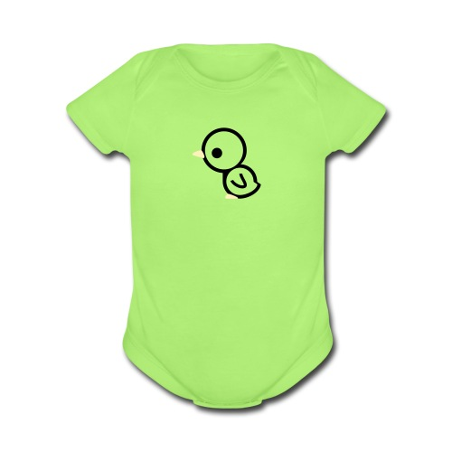 chick - Organic Short Sleeve Baby Bodysuit