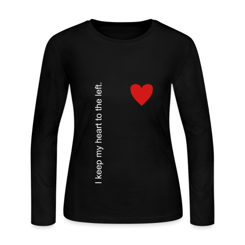 I keep my heart to the left. - Women's Long Sleeve Jersey T-Shirt
