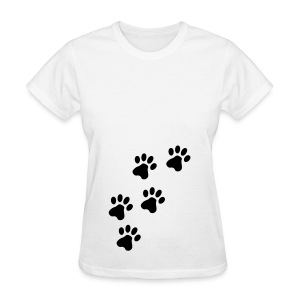 Paw Prints Womens Tee - Women's T-Shirt