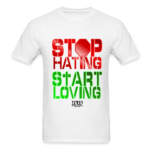 STOP HATING - Men's T-Shirt