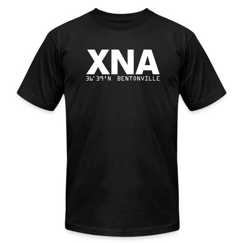 Bentonville XNA Arkansas airport code fitted T-Shirt - Men's Fine Jersey T-Shirt