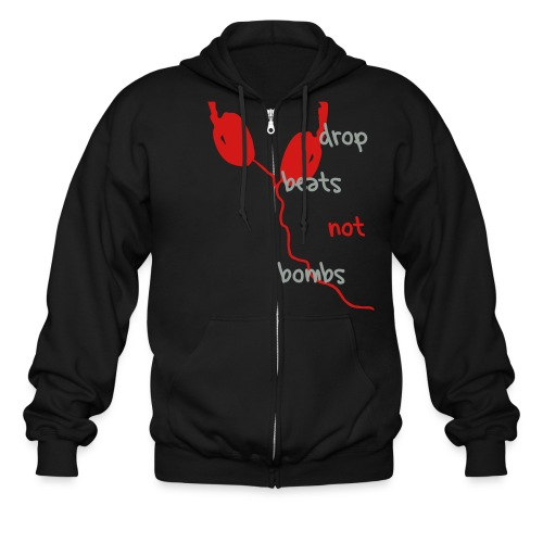 drop beats jacket - Men's Zip Hoodie