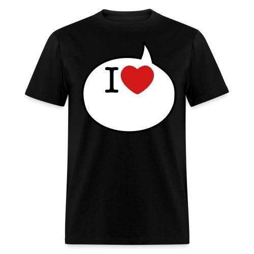 I LOVE _____  T-shirt & marker - Men's T-Shirt