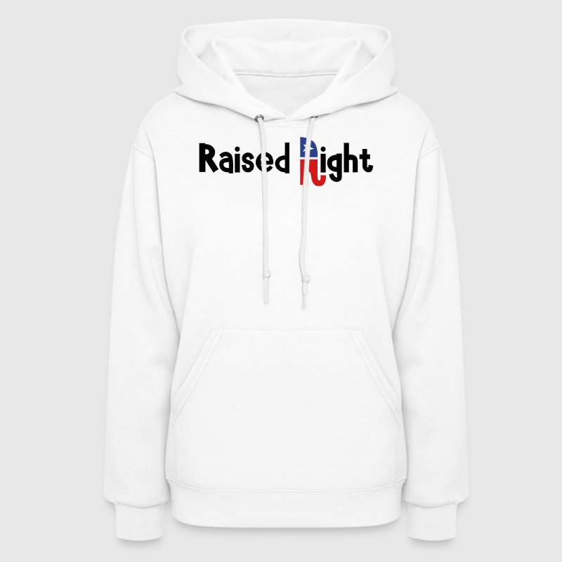 White Raised Right Hooded Sweatshirts - Women's Hoodie