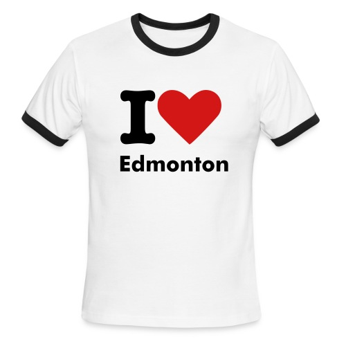 I heart Edmonton - Men's Ringer T-Shirt