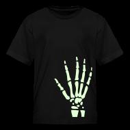Kids' Shirts ~ Kids' T-Shirt ~ SKELETON HAND - GLOW IN THE DARK T-Shirt
