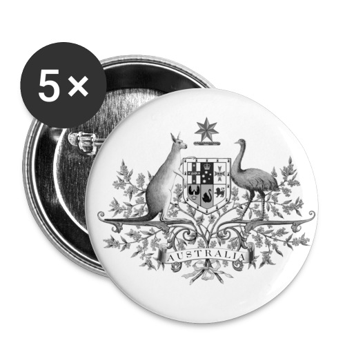 Aussie Button BW - Burleigh's Australian Collection - Small Buttons
