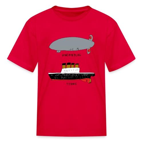 hindenburg & Titanic Kid's Drawing - Kids' T-Shirt