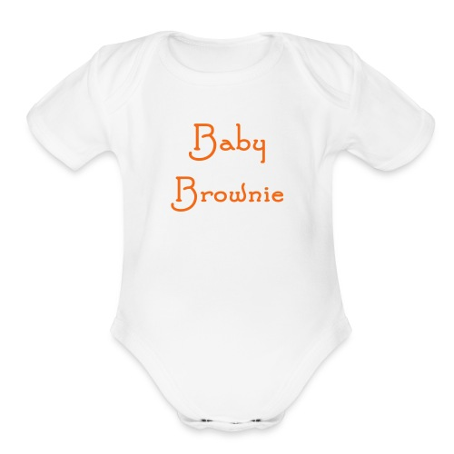 Baby Brownie one size - Organic Short Sleeve Baby Bodysuit