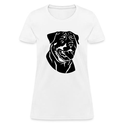 Rottweiler On Ladies Tee - Women's T-Shirt
