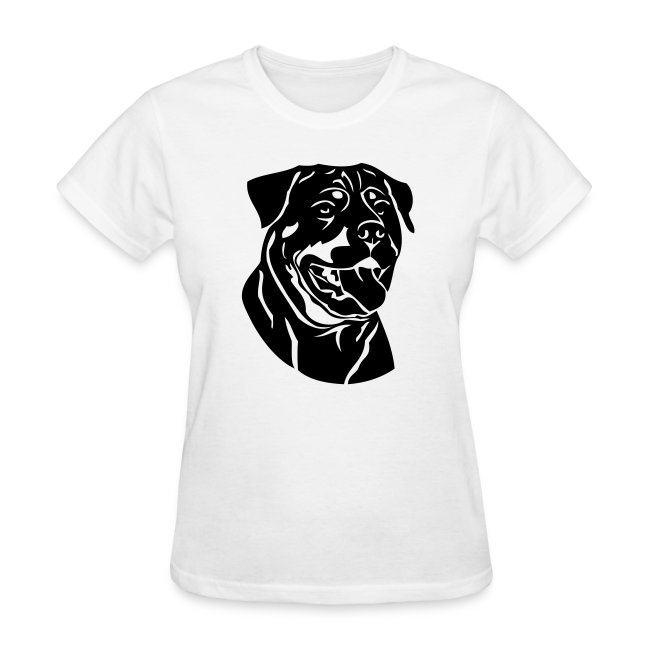 Super Stupid Tees Rottweiler On Ladies Tee Womens T Shirt