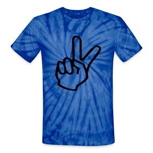 Two Finger Peace Sign On Unisex Tie Dye Tee - Unisex Tie Dye T-Shirt