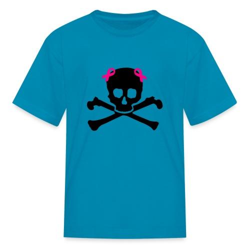 Girl skull herat awarness - Kids' T-Shirt