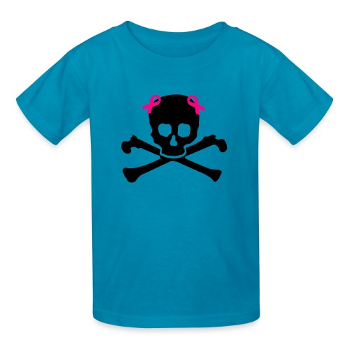 Girl skull herat awarness - Kids' T-Shirt