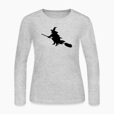 Gray witch broom Tees (Long sleeve)
