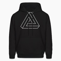 Black Impossible Triangle Hoodies