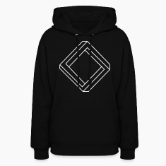 Black Impossible Square Hooded Sweatshirts