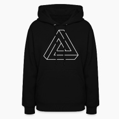 Black Impossible Triangle Hooded Sweatshirts