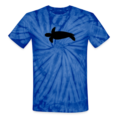 Spider baby blue sea turtle T-Shirts (Short sleeve)