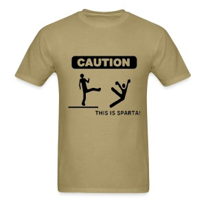 Caution: This is Sparta! - Men's T-Shirt