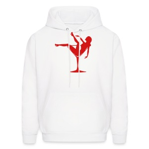 Lady In A Glass Funny Mens Hoody - Men's Hoodie
