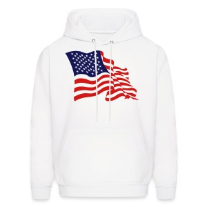 USA Flag On Mens Hoody - Men's Hoodie