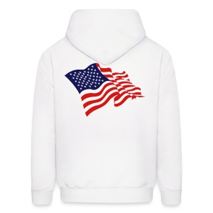 USA Flag On Back Of Mens Hoody - Men's Hoodie