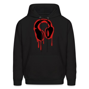Bleeding Headphones Mens Black Hoody - Men's Hoodie