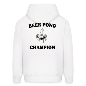 Beer Pong Champion On Back Mens Hoody - Men's Hoodie
