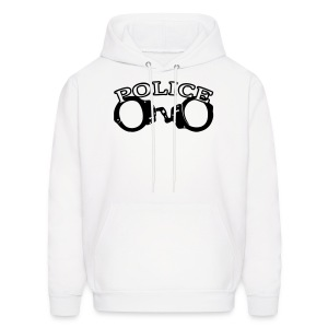 Police With Handcuffs Mens Hoody - Men's Hoodie