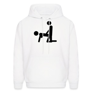 Bend Over Stick Figures Mens Hoody - Men's Hoodie