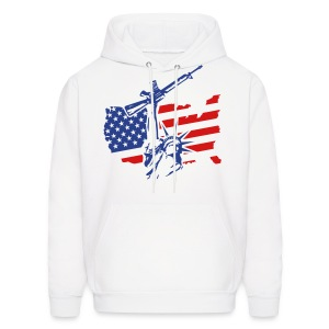 Combat Statue Flag W/ Statue Of Liberty Hoody - Men's Hoodie