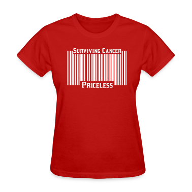 Red Surviving Cancer Priceless Women's T-shirts
