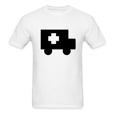 White Ambulance T-Shirts (Short sleeve)