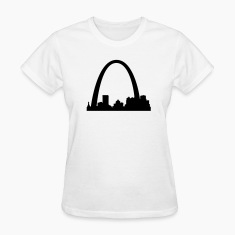 White St.Louis Skyline Women's Tees (Short sleeve)